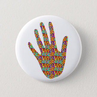 HIGH5 HighFive HIfi dots n circles Graphic Art Soc 6 Cm Round Badge