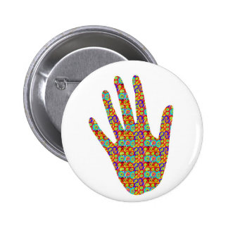 HIGH5 HighFive HIfi dots n circles Graphic Art Soc 6 Cm Round Badge