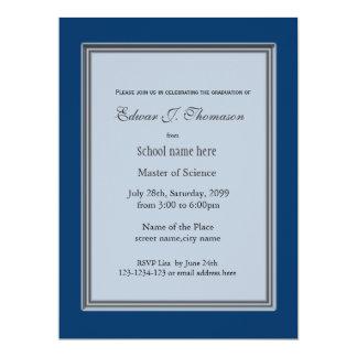 High achievement blue graduation announcement