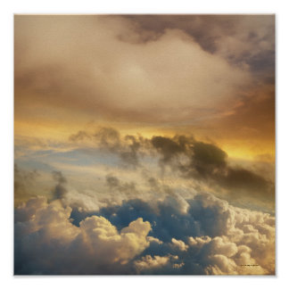 High Altitude Sunset Poster
