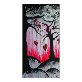 High and Dry Heart Trees Original Art Photo Print