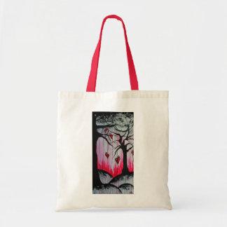 High and Dry Heart Trees Original Art Tote Bag