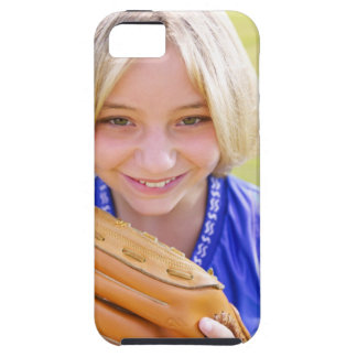 High angle portrait of a softball player smiling iPhone 5 covers