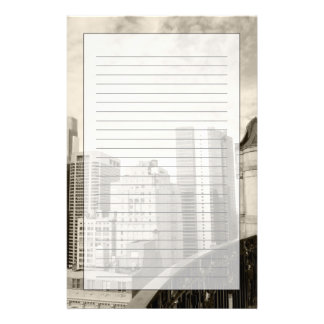 High angle view at Philadelphia downtown Custom Stationery