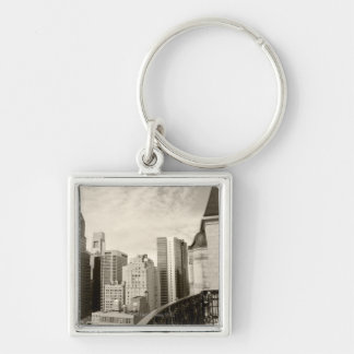 High angle view at Philadelphia downtown Key Ring