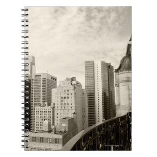 High angle view at Philadelphia downtown Notebooks