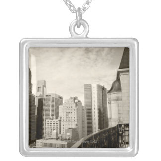 High angle view at Philadelphia downtown Silver Plated Necklace