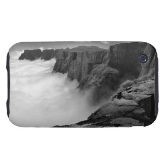 High angle view black and white view of tough iPhone 3 case