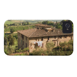 High angle view of a building, San Gimignano, iPhone 4 Cases