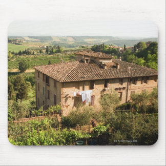 High angle view of a building, San Gimignano, Mouse Mat