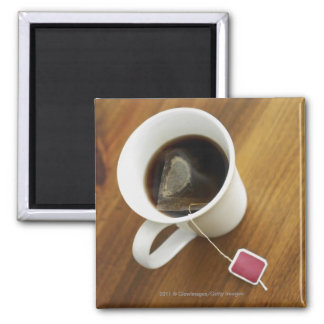 High angle view of a cup of tea magnet
