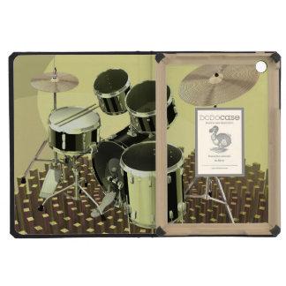 High angle view of a drum kit iPad mini retina cases