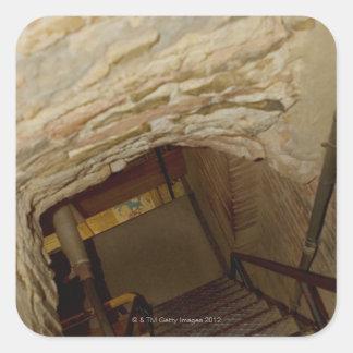 High angle view of a staircase, La Rognosa, San Square Sticker