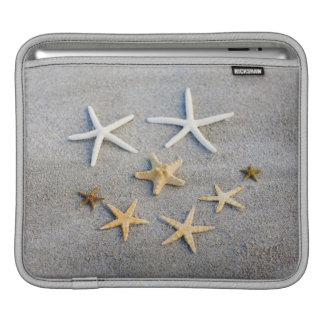 High angle view of a starfish on the beach iPad sleeve