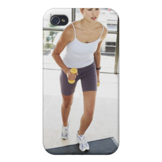 High angle view of a young woman working out on iPhone 4 cases