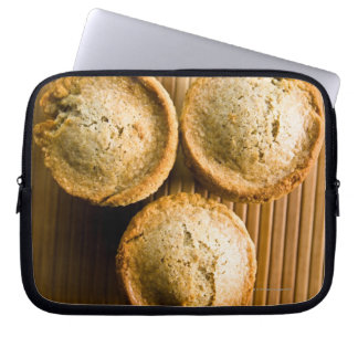 High angle view of muffins laptop sleeve