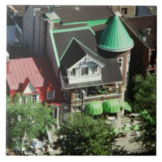 High angle view of neighborhood, Canada Large Square Tile