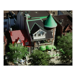 High angle view of neighborhood, Canada Print
