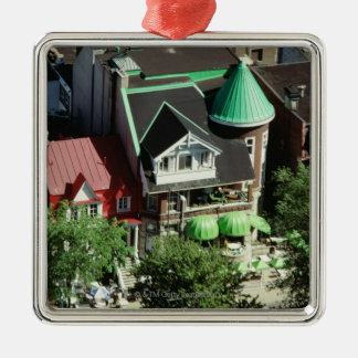 High angle view of neighborhood, Canada Silver-Colored Square Decoration