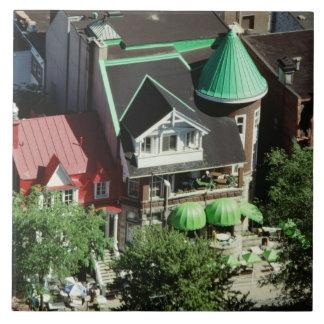 High angle view of neighborhood, Canada Tile