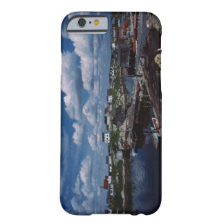 High angle view of provincial seaside town, barely there iPhone 6 case