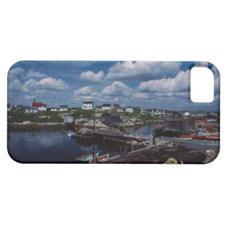 High angle view of provincial seaside town, case for the iPhone 5