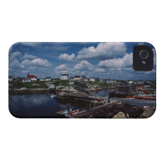 High angle view of provincial seaside town, iPhone 4 Case-Mate case