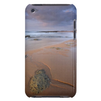 High angle view of shoreline rocks at dawn and iPod Case-Mate cases
