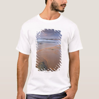 High angle view of shoreline rocks at dawn and T-Shirt