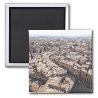 High Angle View of Townscape, Siena, Italy 2 Square Magnet