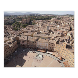 High Angle View of Townscape, Siena, Italy Poster