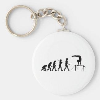 High Bar Gymnastics Evolution Sports Basic Round Button Key Ring