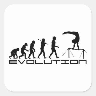 High Bar Gymnastics Sport Evolution Art Square Stickers