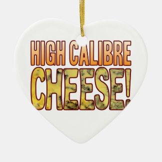 High Calibre Blue Cheese Ceramic Heart Decoration