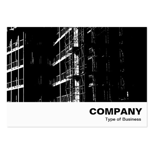 High Contrast Construction Business Card Template