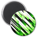 High contrast green 6 cm round magnet