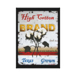 High Cotton Wrapped Canvas Stretched Canvas Print