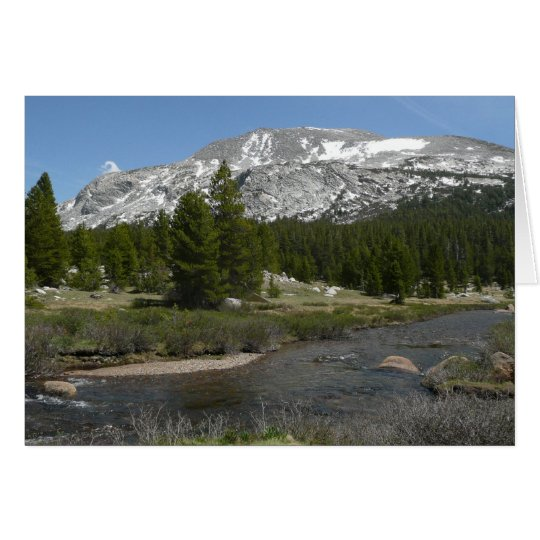 High Country Mountain Stream II Yosemite Park Card