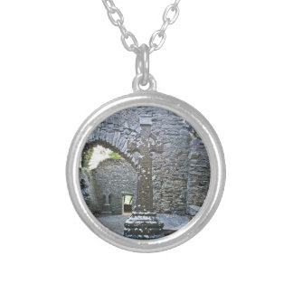 High Cross Silver Plated Necklace