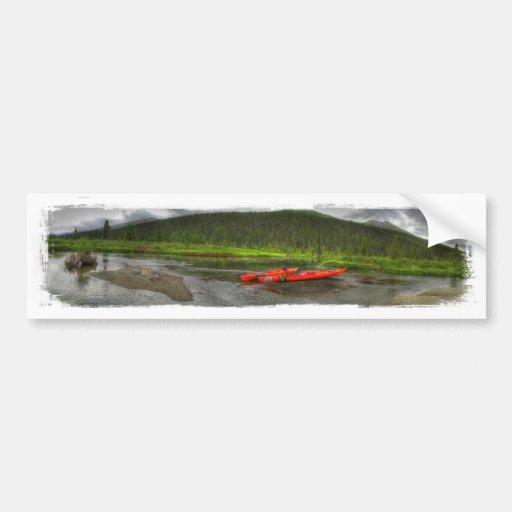 High Def Kayak Bumper Sticker