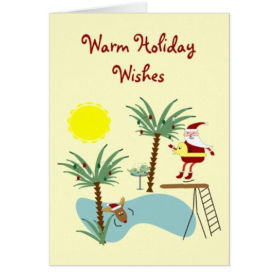 High Diving Santa Holiday Card
