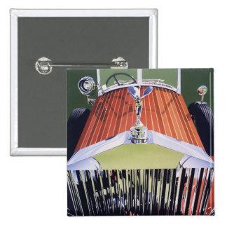 High end 15 cm square badge