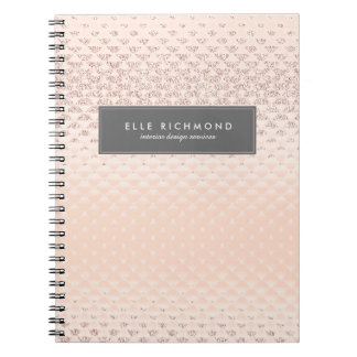 High-End Rose Gold Note Book