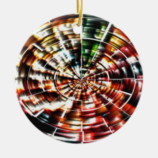High Energy Mandala Christmas Ornament
