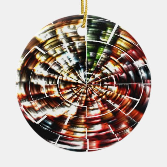 High Energy Mandala Christmas Ornament