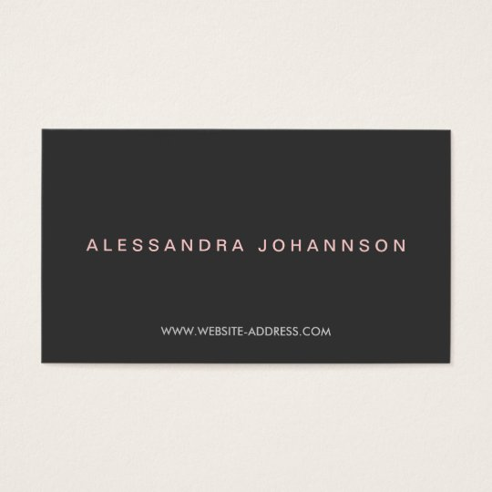 HIGH-FASHION LUXE No. 2 Business Card
