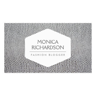 HIGH FASHION, STYLIST, BLOGGER, SNAKESKIN PRINT PACK OF STANDARD BUSINESS CARDS