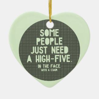 High-five Ceramic Heart Decoration