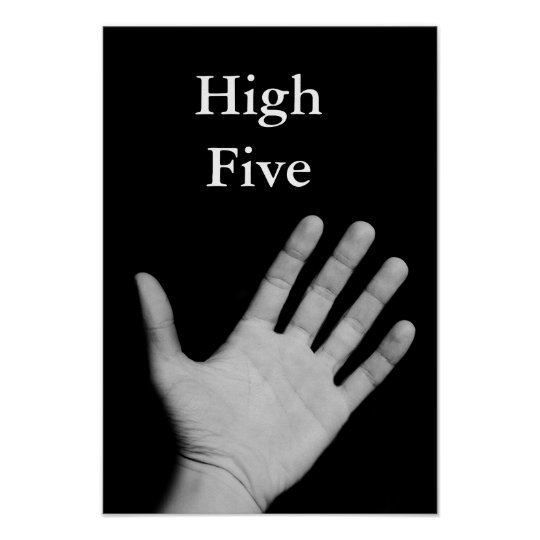 High Five Humourous Poster