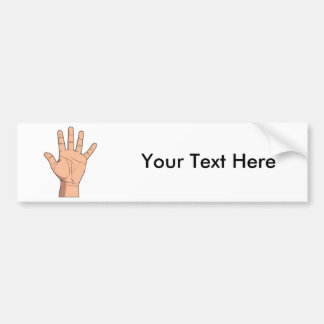 High Five Open Hand Sign Five Fingers Gesture Bumper Sticker